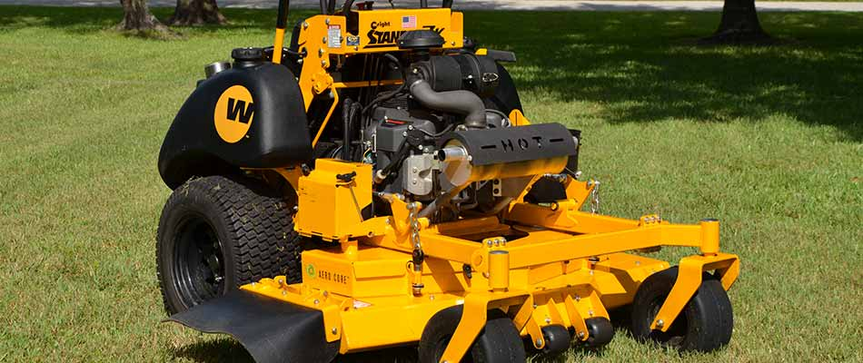 Our Wright stander mower used for lawn maintenance.